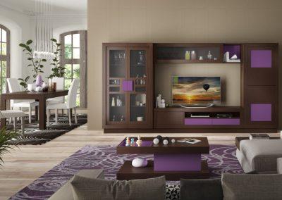 mueble-salon-aparador-vitrina-mesa-centro-locado-marron-violeta-coim-1024x675