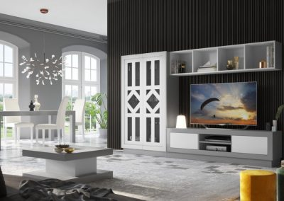 mueble-salon-detalle-tapa-decoracion-aparador-vitrina-mesa-lacado-blanco-gris-coim-1024x674