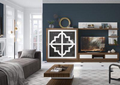 mueble-salon-mesa-centro-aparador-vitrina-lacado-marron-blanco-coim-1024x675