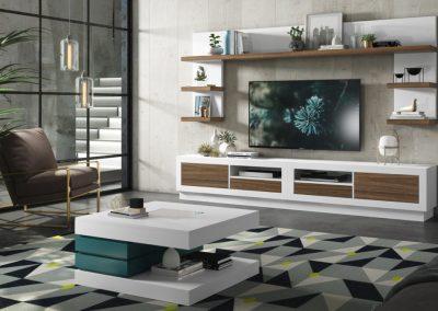 mueble-salon-mesa-centro-lacado-marron-blanco-azul-coim-1024x675